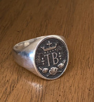 Sterling Silver Thoroughbred  Signet Ring