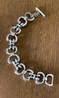 Vintage Gucci Snaffle Bit Motif Link Bracelet with Toggle Clasp