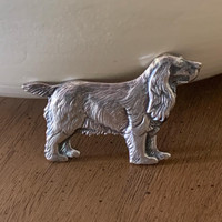 Antique Sterling Silver Spaniel Pin