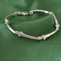 Sterling Silver Horseshoe Nail  Link Bracelet