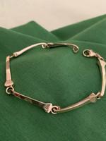 14k Yellow or White Gold Horseshoe Nail Link Bracelet