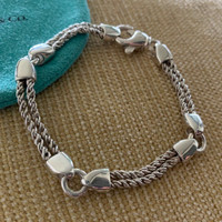 Vintage Tiffany Link and Twist Equestrian Motif Bracelet