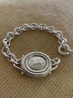 Vintage Kieselstein-Cord Sterling Galloping Horse Link Bracelet