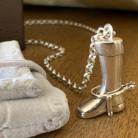 Vintage Chunky Gucci Boot on Chain.