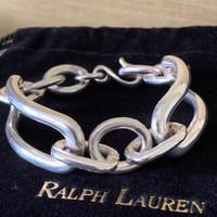 Vintage Chunky Ralph Lauren Rectangles and Ovals Link Bracelet