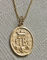 14k YELLOW GOLD ONLY  Thoroughbred Breed Charm or Pendant.