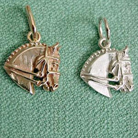 14k Gold Dressage Horse Charm or Pendant