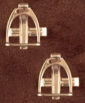 14k Gold Stirrup with Strap Cufflinks
