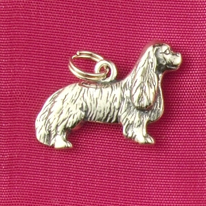 Sterling Silver Cavalier King Charles Spaniel Charm or Pendant