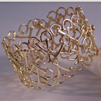 "14k Gold ""Mixed Up Bits"" Horse Bits Cuff Bracelet"
