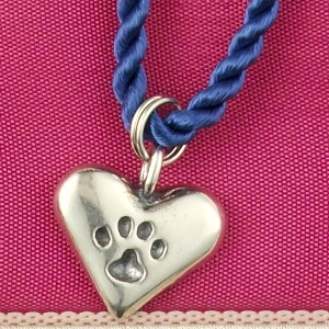 Pawprints on Your Heart Charm Necklace
