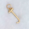 14k Gold Boot Pull Charm or Pendant