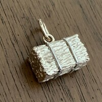 14k Gold Hay Bale Charm or Pendant