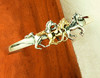 14k Gold and Sterling Silver Three Galloping Horses Bracelet