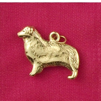 14k Gold Australian Shepherd Charm or Pendant