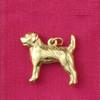 14k Gold Border Terrier Dog Charm or Pendant