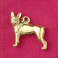 14k Gold Boston Terrier Charm or Pendant