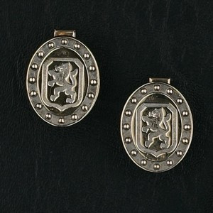 14k Gold Breed Symbol Cufflinks