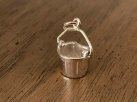 14k Gold Bucket Charm or Pendant