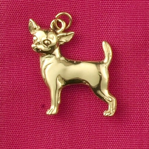 14k Gold Chihuahua Dog Charm or Pendant