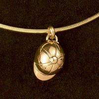 14k Gold Helmet Charm or Pendant