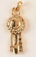 14k Gold Chunky Ribbon Charm or Pendant