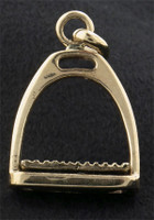 14k Gold Chunky Stirrup Charm or Pendant