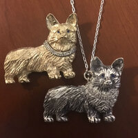 14k  Yellow or White Gold Corgi Pin or Pendant