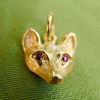 14k Gold Fox Charm or Pendant