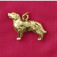 14k Gold Golden Retriever Dog Charm or Pendant