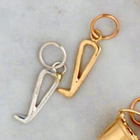 14k Gold Hoof Pick Charm or Pendant