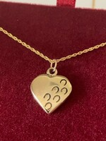 14k Gold Hoofprints on Your Heart Charm or Pendant