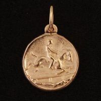 14k Gold Horse and Rider Charm or Pendant