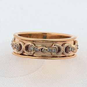 14k Yellow and Gold Wedding Band Style Ring