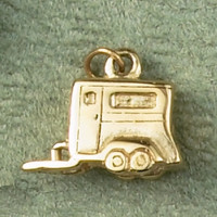 14k Gold Horse Trailer Charm or Pendant