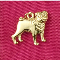 14k Gold Pug Dog Charm or Pendant