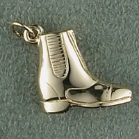 14k Gold Small Paddock Boot Charm or Pendant