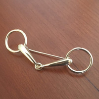 14k Gold Snaffle Bit Stock Pin