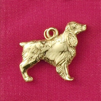 14k Gold Springer Spaniel Dog Charm or Pendant