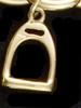 14k Gold Stirrup Charm or Pendant