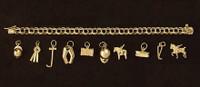 14k Gold Traditional Charm Bracelet