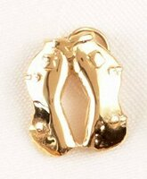 14k Gold Western Chaps Charm or Pendant