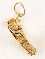 14k Gold Western Spur Charm or Pendant