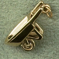 14k Gold Wheelbarrow Charm or Pendant