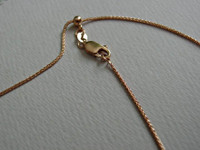 14k Rose Gold Adjustable Pendant Chain
