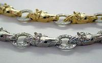 14k White Gold Horsehead Bracelet
