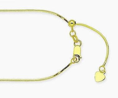 "14k yellow white gold snake chain adjustable 16""-18"" length. Versatility in this great chain!"