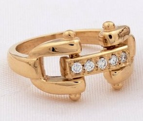 cda9ef010 Add to Wish List. Click the button below to add the 14k Yellow Gold  Designer Style Bit Ring with Diamonds ...