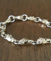14k Gold Horse Heads with Diamonds Bracelet