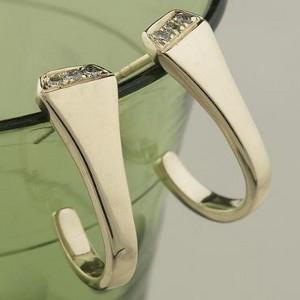 14k Yellow Gold Horseshoe Nail Earrings with Diamonds